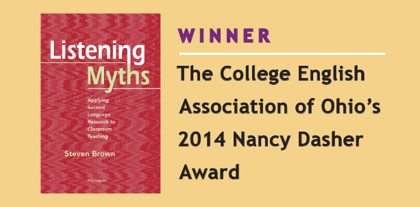 Winner of the College English Association of Ohio's 2014 Nancy Dasher Award