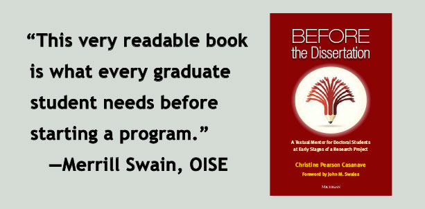 This very readable book is what every graduate student needs before starting a program.