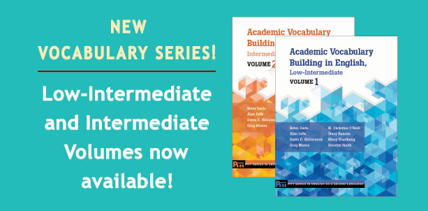 New Vocabulary Series! Low-Intermediate and Intermediate Volumes now available