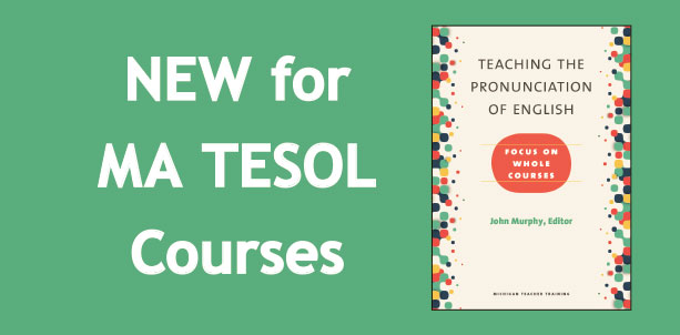 New for MA TESOL Courses