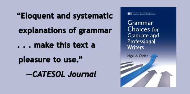 Eloquent and systematic explanations of grammar . . . make this text a pleasure to use. CATESOL Journal