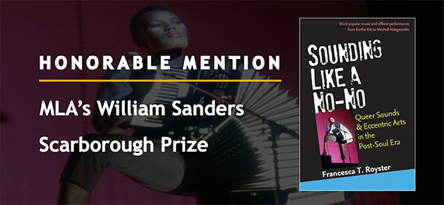 Honorable Mention MLA's William Sanders Scarborough Prize