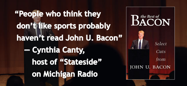 People who think they don't like sports probably haven't read John U. Bacon.—Cynthia Canty, host of Stateside Michigan Radio