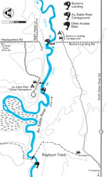 Au Sable map